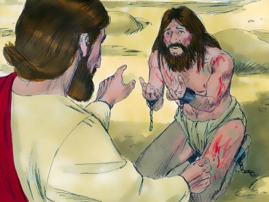 Jesus-heals-troubled-man