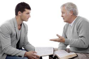 Men Sharing Gospel