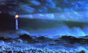 63. Lighthouse-in-Storm